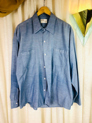 1960's Chambray Button Down Shirt