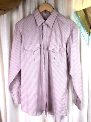1980's Striped Western Button Down Shirt