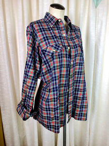 1980's Plaid Arrow Button Down Shirt