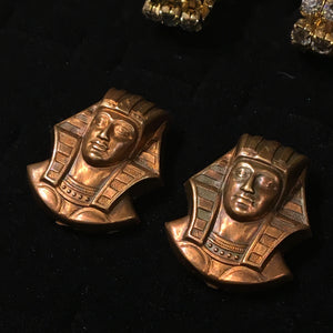 1920's Pharaoh Head Cufflinks