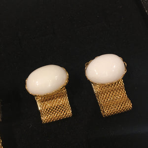 Gold Cabochon Over The Cufflinks