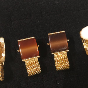 Gold Pearlite Over the Cufflinks