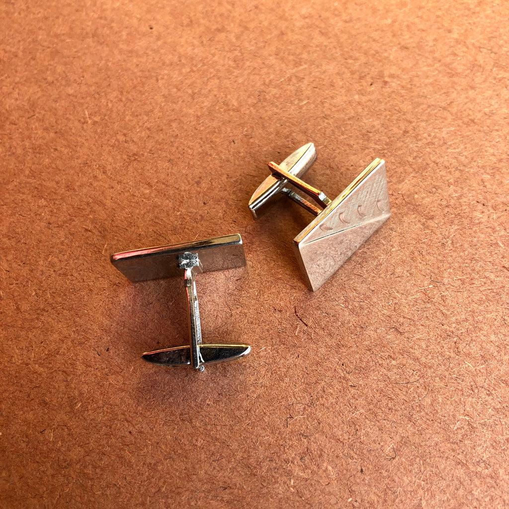 1960's Silver Triangle w/ Rectangle Cufflinks