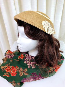 1950's Woven Garden Party Hat