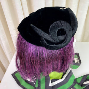 1950's Velvet Curl Cocktail Hat