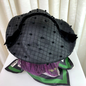 1950's Fuzz Dot Picture Hat