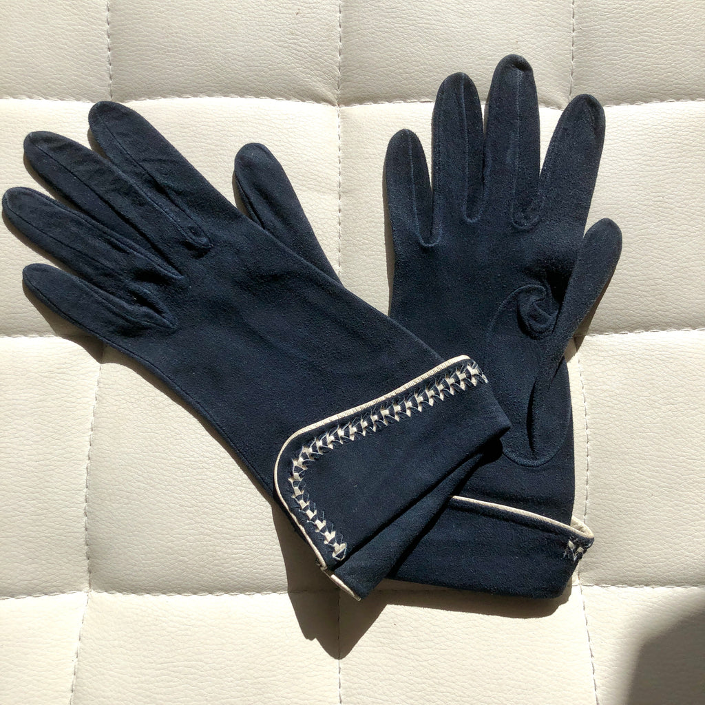 1940's Navy French Cuffed Kid Gloves