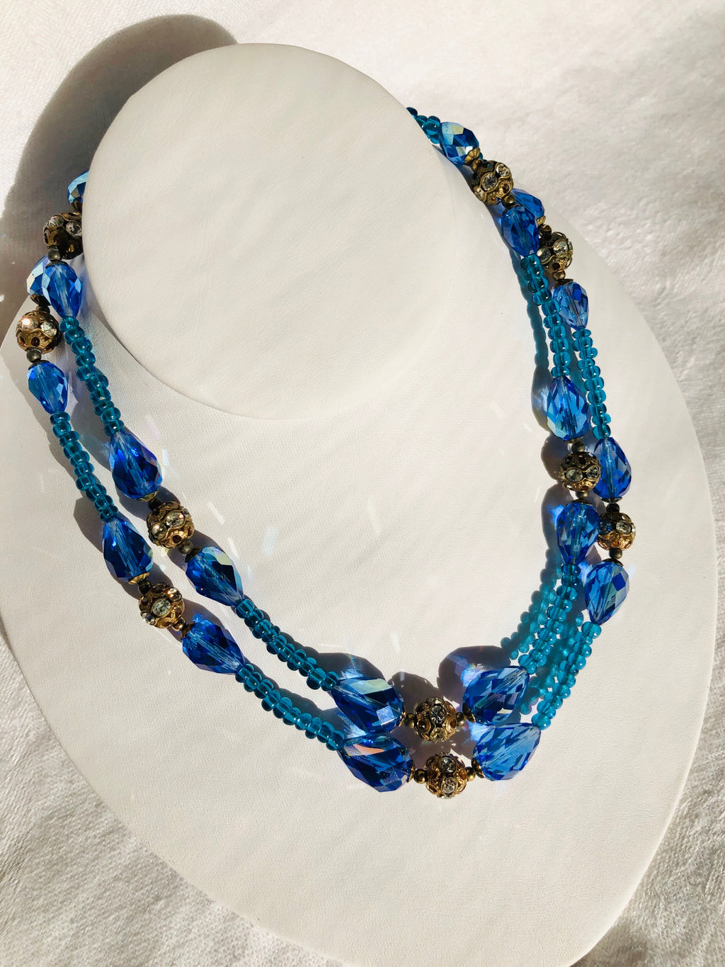 Double Strand Ocean Bead Necklace