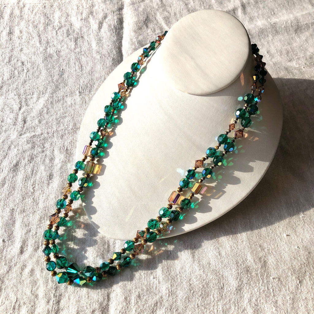 Matinee Emerald Crystal Necklace