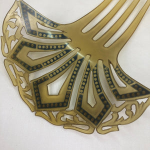 Deco Celluloid Mantilla Comb