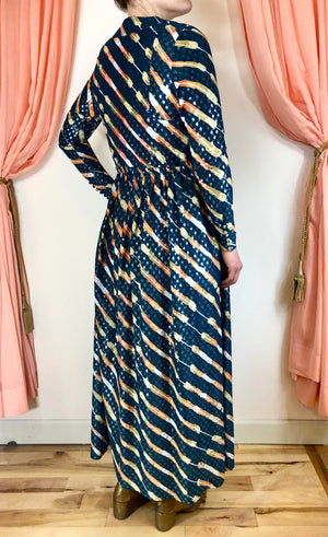 1970's Jean Varon/John Bates Maxi Dress