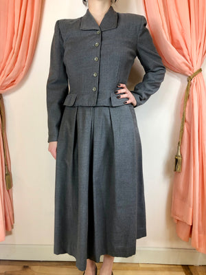 1950's Tailored Skirt Suit