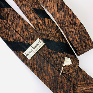 1950's Rust Black Stripe Tie