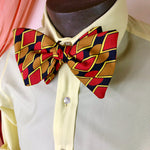 Flashy Red & Yellow Big Bowtie