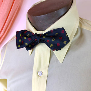 Yellow and Red Squares Black Bowtie