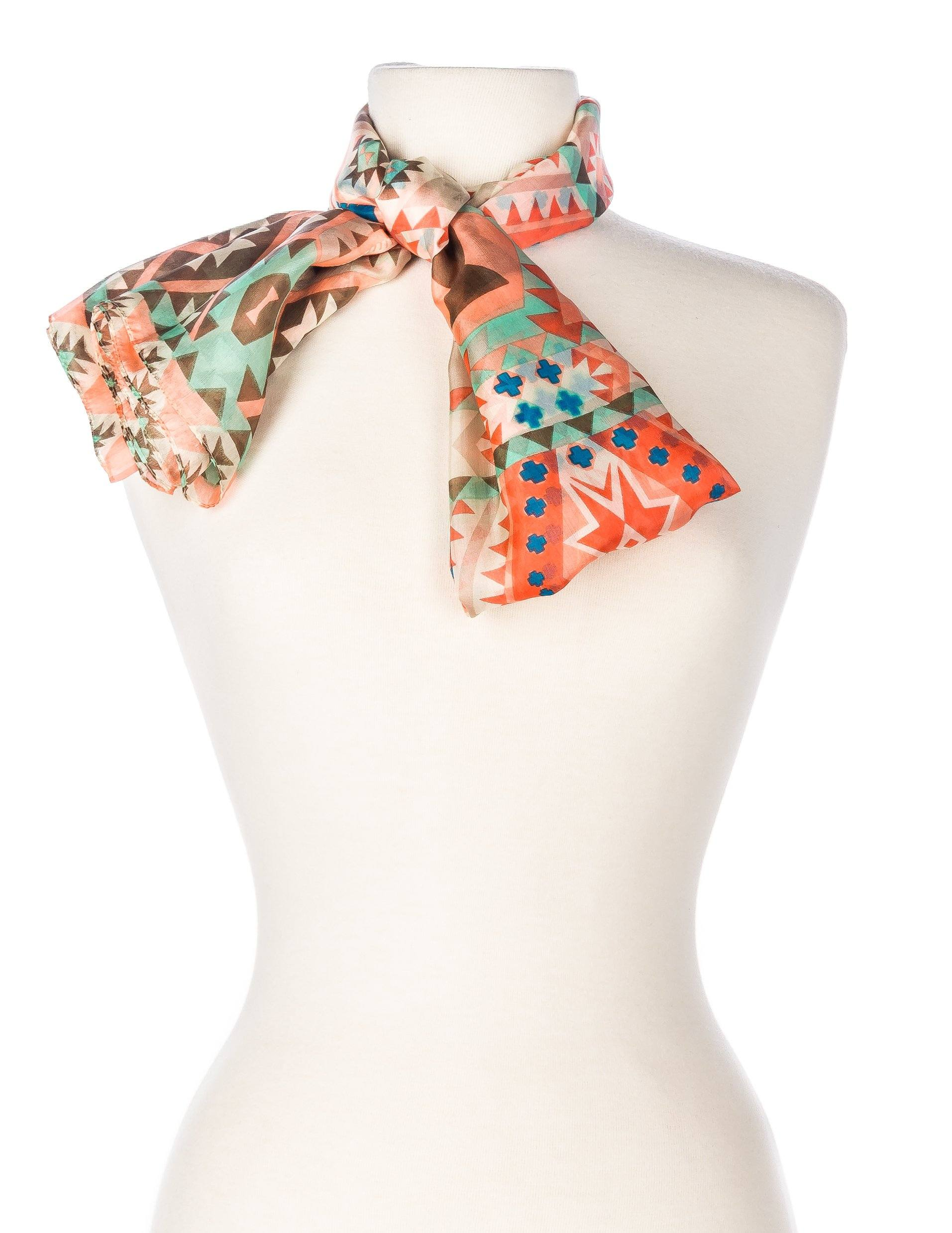 Southwestern - Ivory/Coral