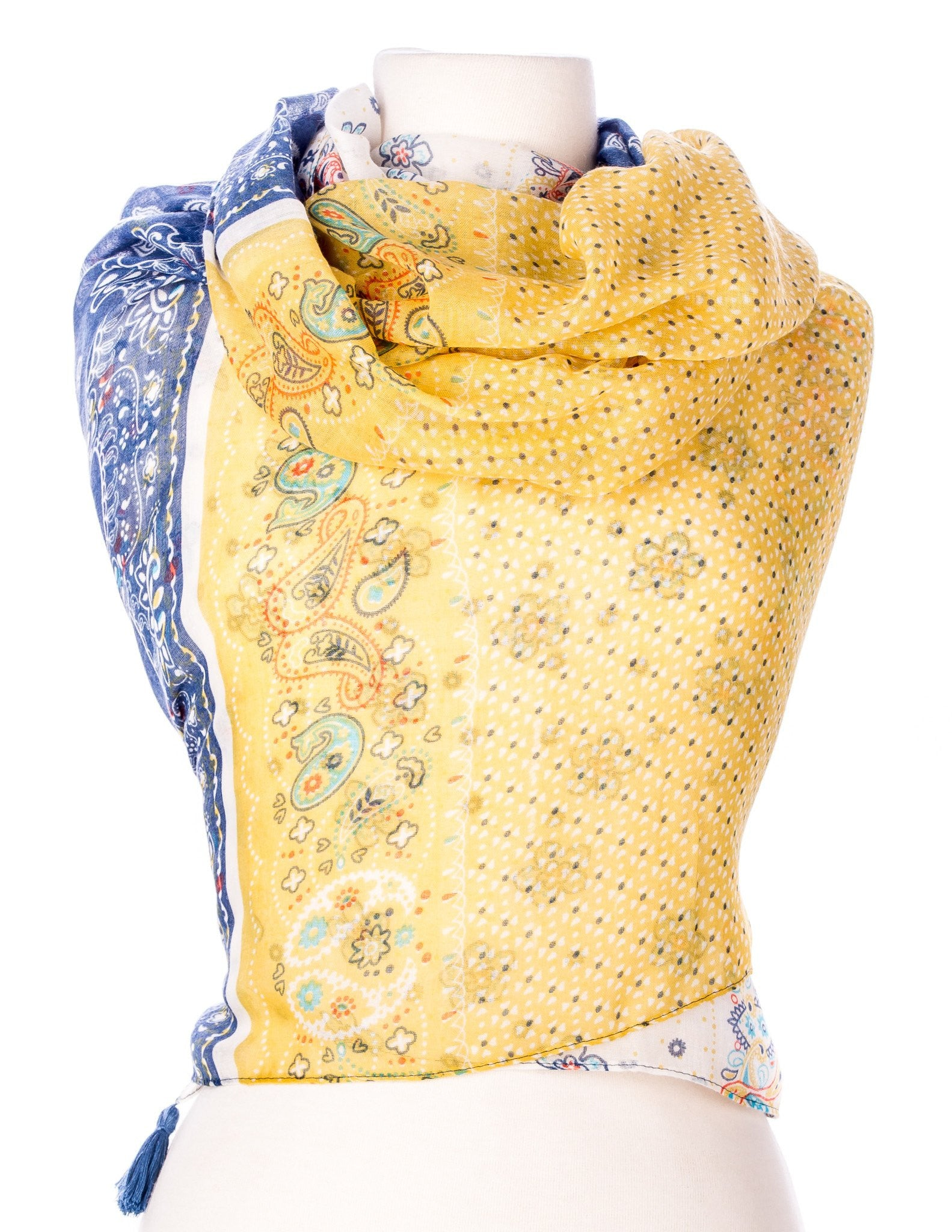 Floral Paisley Spring Scarf