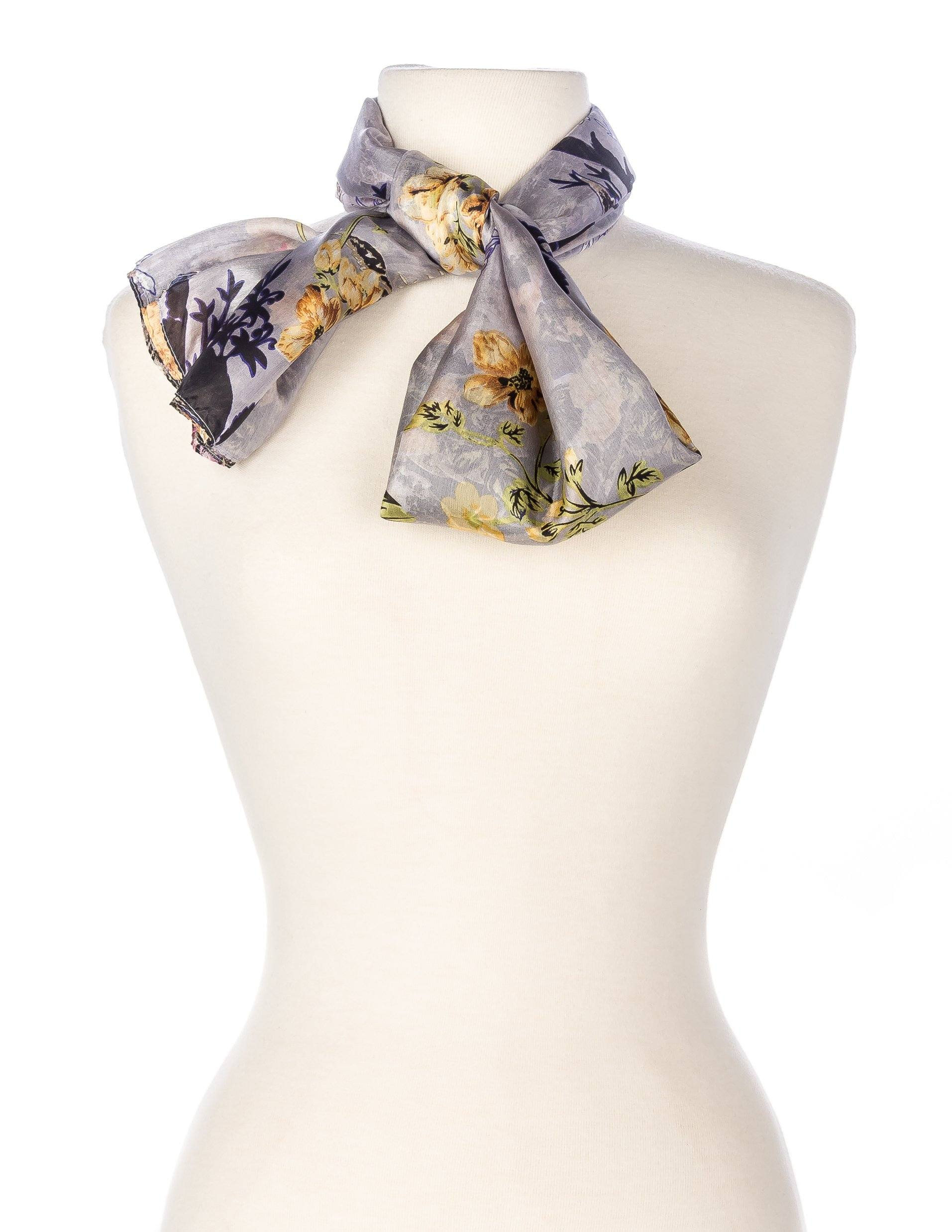 Elegant Floral - Light Grey/Purple