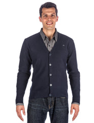 Men's 100% Cotton Cardigan Sweater