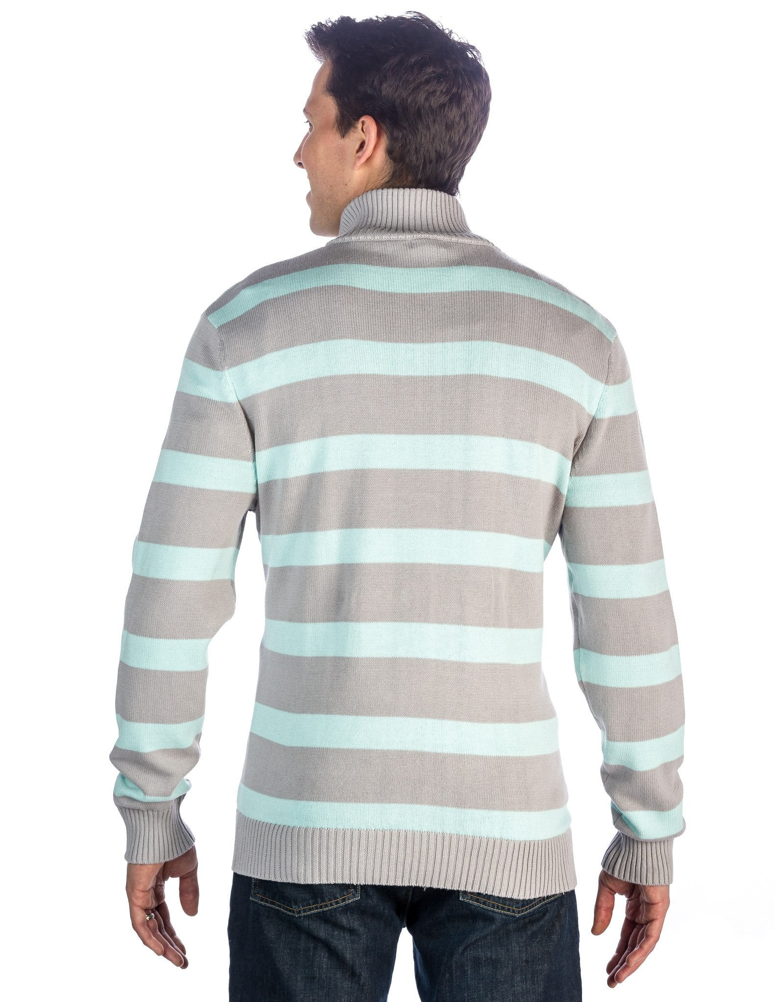 Stripes Gray-Aqua
