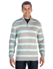 Men's 100% Cotton Half-Zip Pullover Sweater