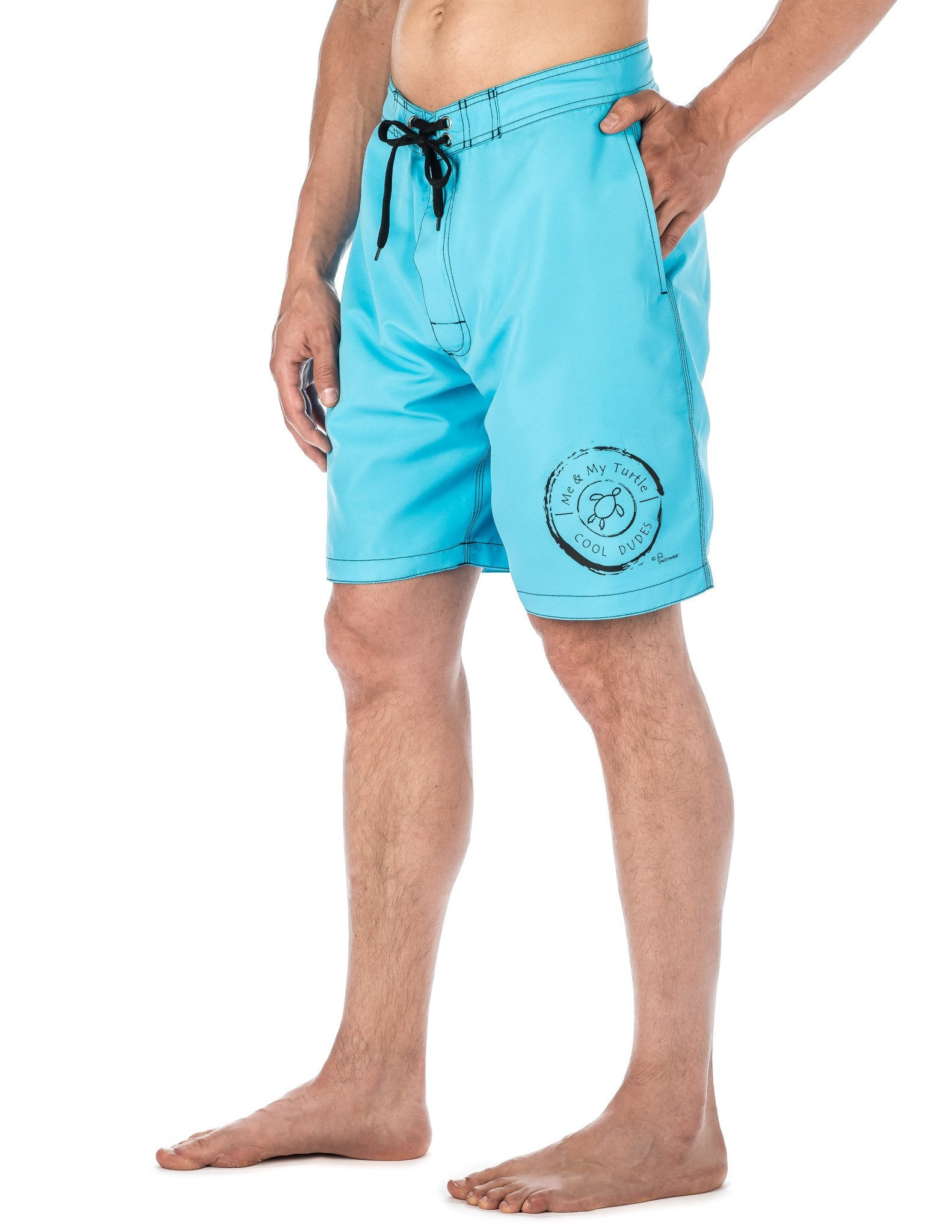 Men's Premium Swim Boardshorts - With Beach Attitude Stamps