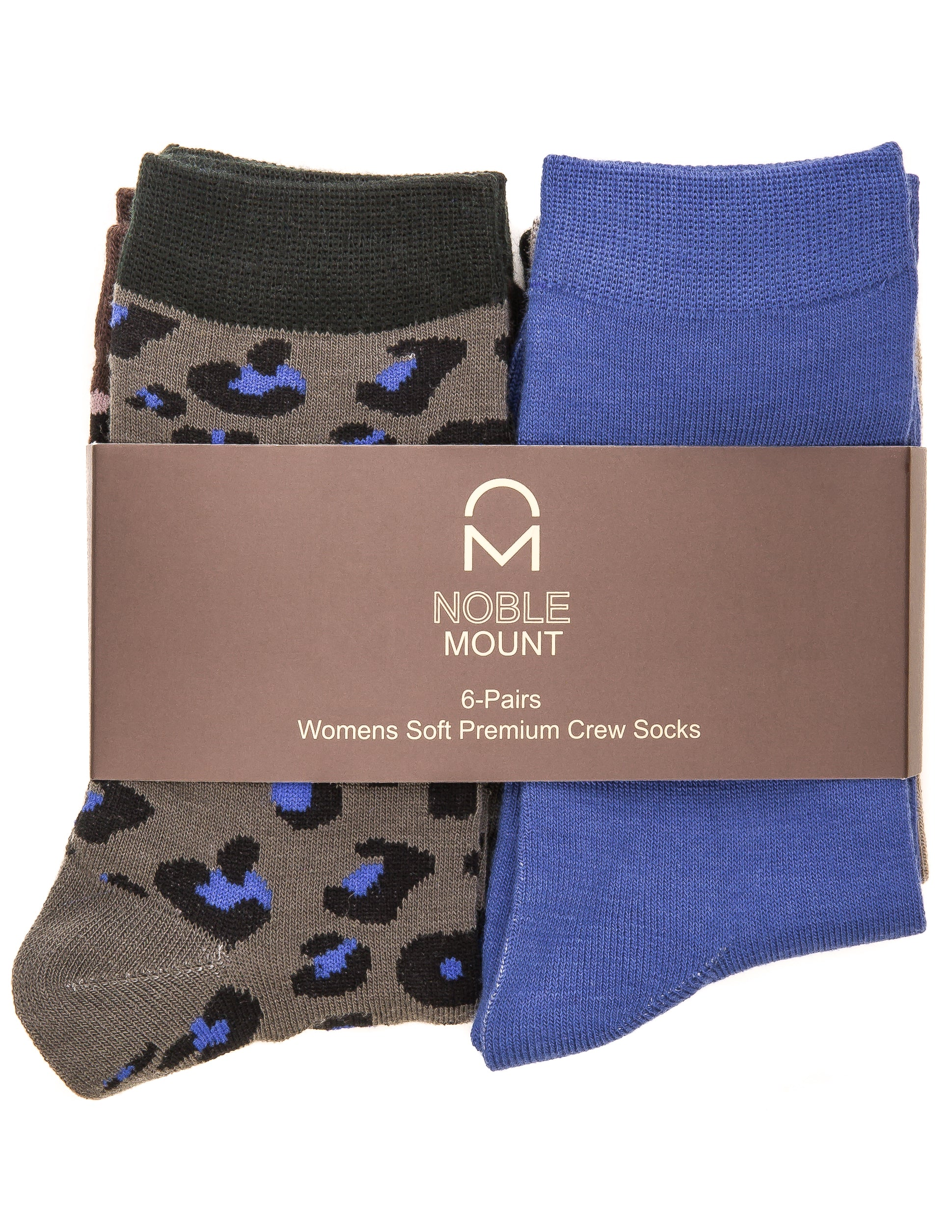 Women's Soft Premium Crew Socks - 6 Pairs