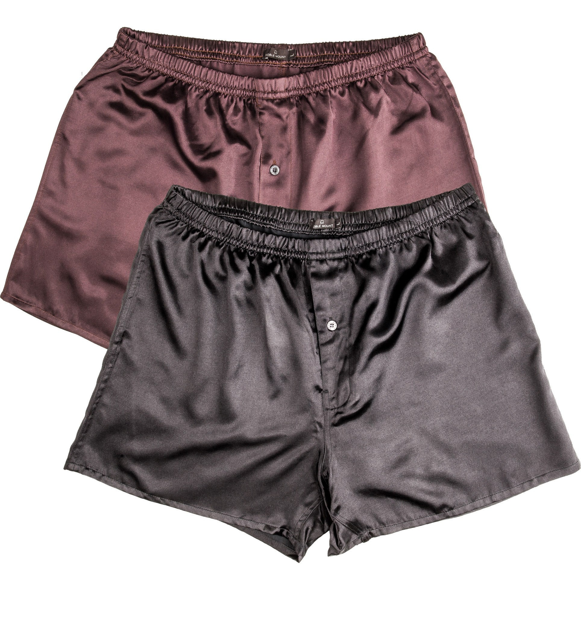Men S Premium Satin Boxers 2 Pack Noble Mount
