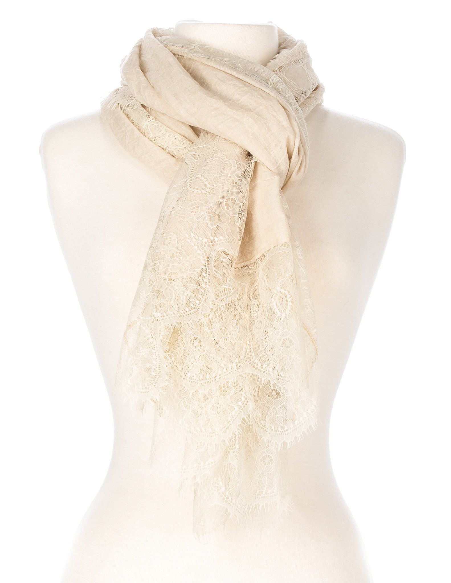 Lace Border Spring Scarf
