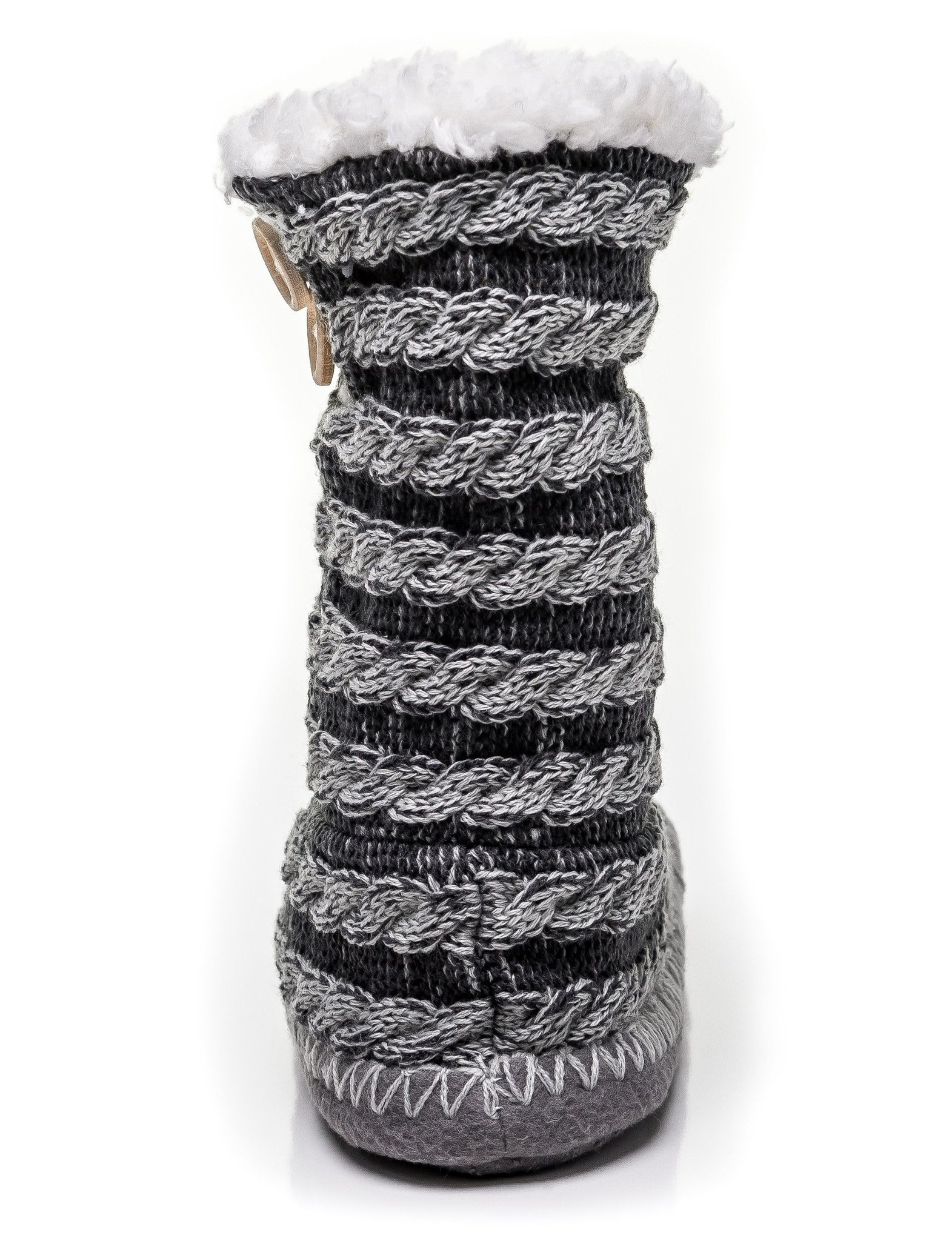 Noble Mount Womens Cable Knit Indoor Boot Slippers