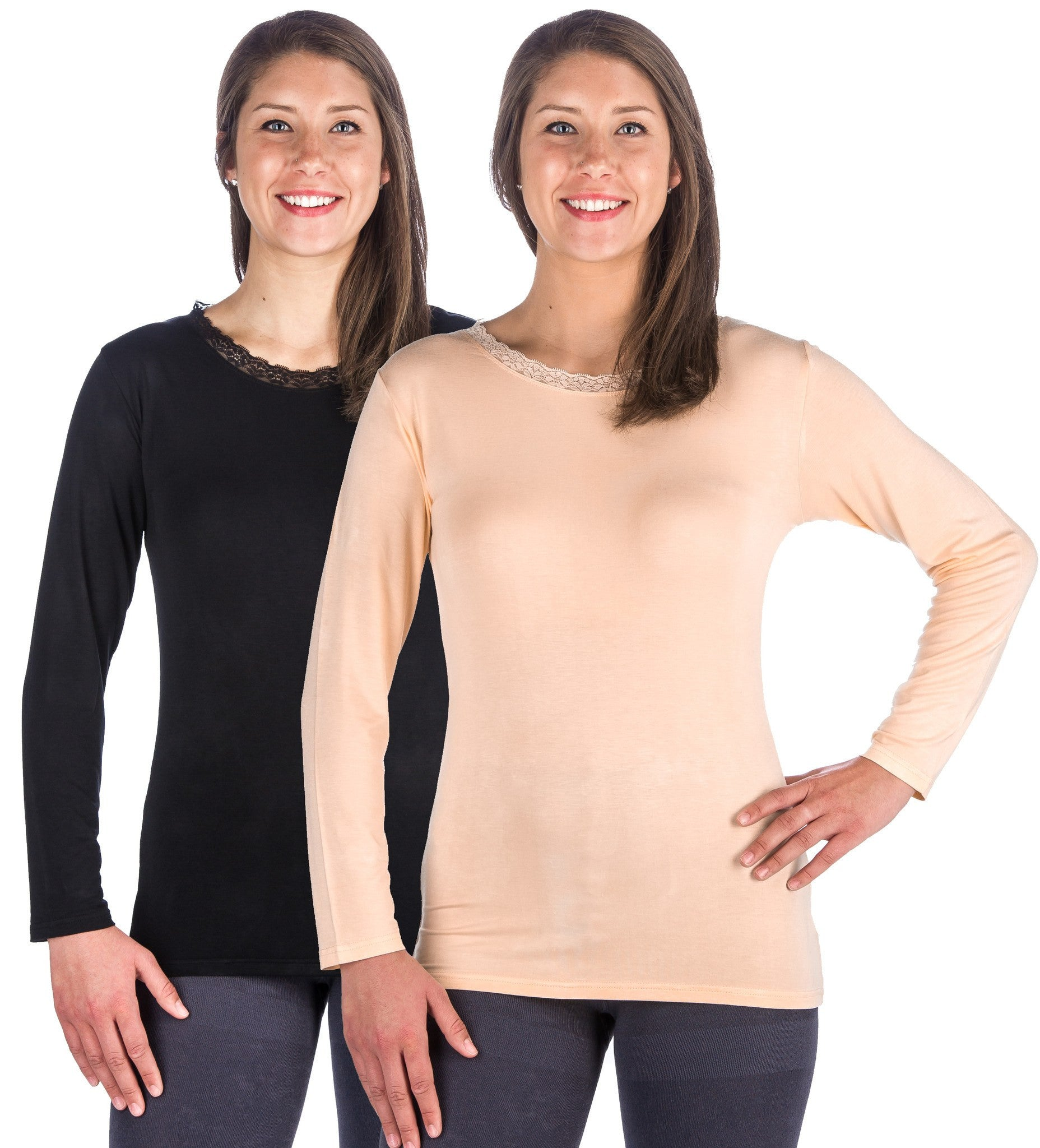 Women's Cool Knit Long Sleeve Layering T-Shirt - 2 Pack