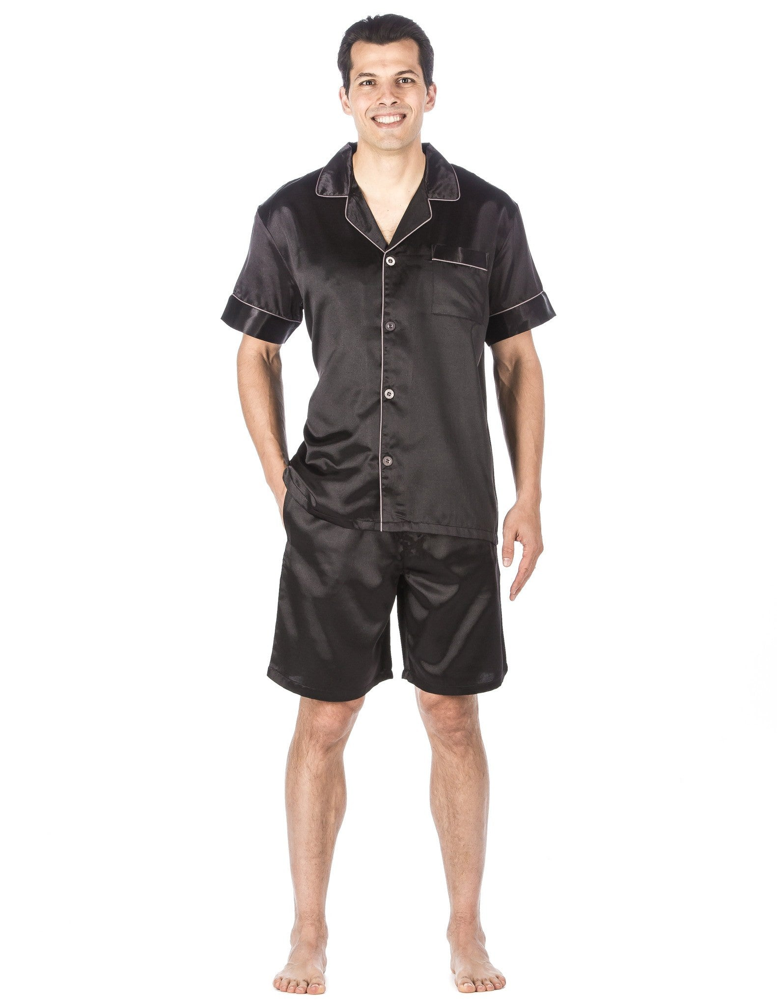 Men's Premium Satin Short Pajama Set