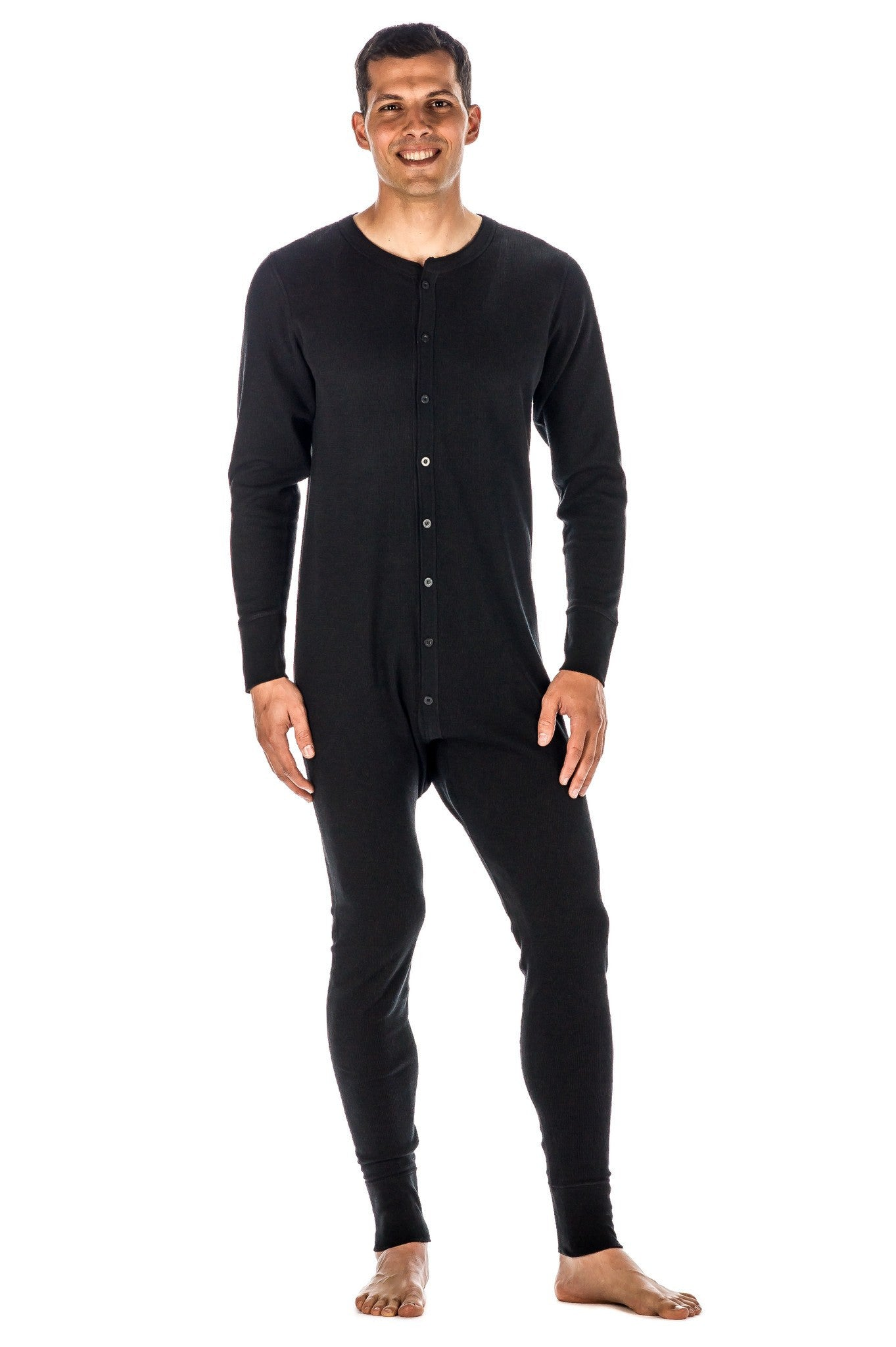 Men's Waffle Knit Thermal Union Suit