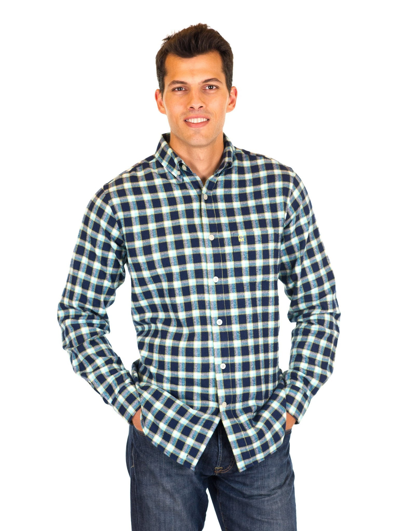 Black/Blue Plaid