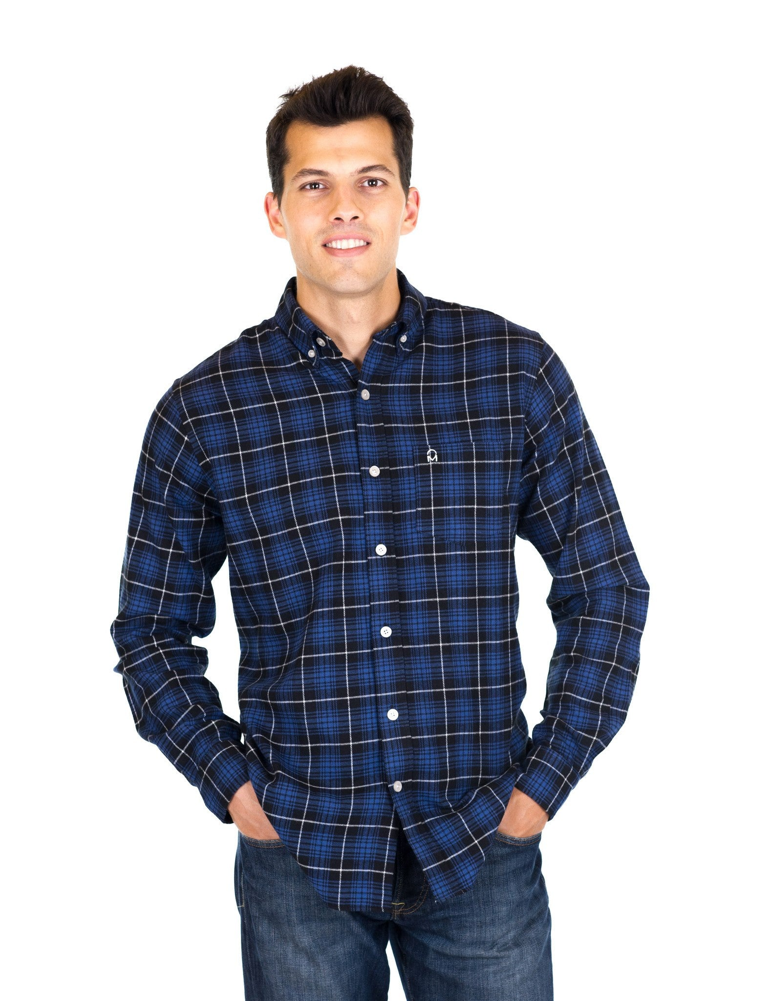 Black/Navy Plaid