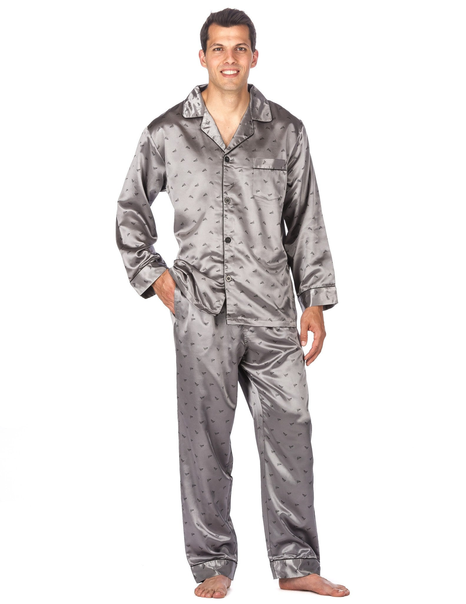 Men's Premium Satin Pajama Sleepwear Set