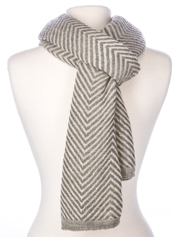 Men's Stockholm Chevron Stripes Winter Scarf