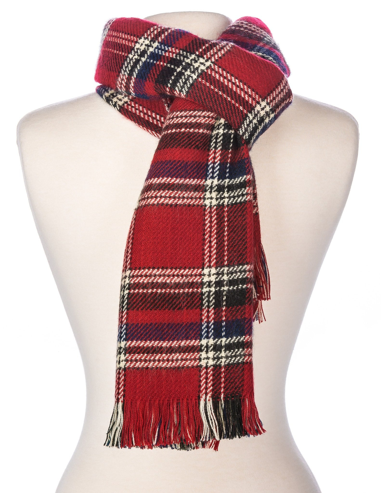 Men's Cambridge Plaid Reversible Winter Scarf