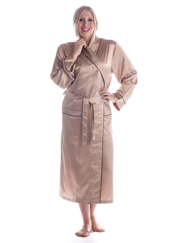 Women's Premium Satin Robe (Relaxed Fit)