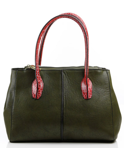 Croc Accent Colette Satchel Bag