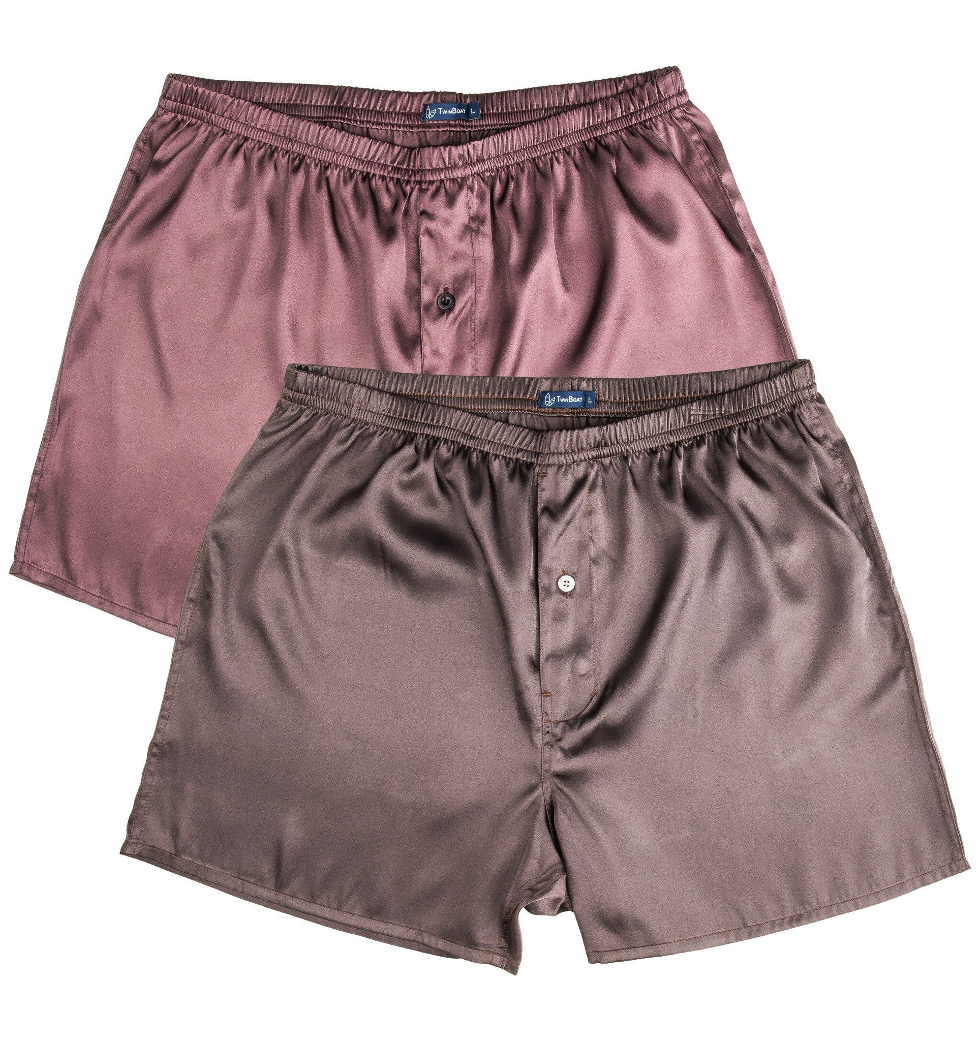 Men's Satin Boxers (2-Pack)