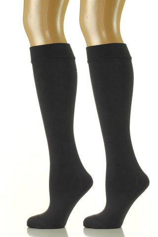 Noble Mount Womens Premium Fleece Lined Trouser Socks 2-Pack (Size 9-11)