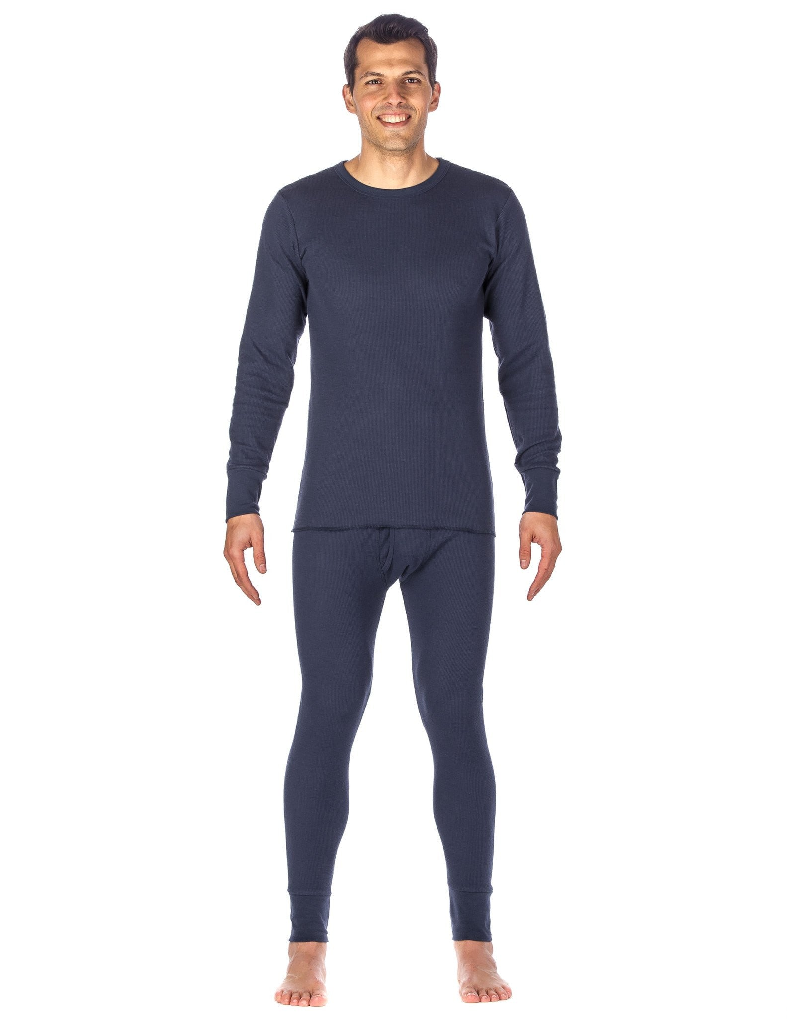 Men's Extreme Cold Waffle Knit Thermal Top and Bottom Set