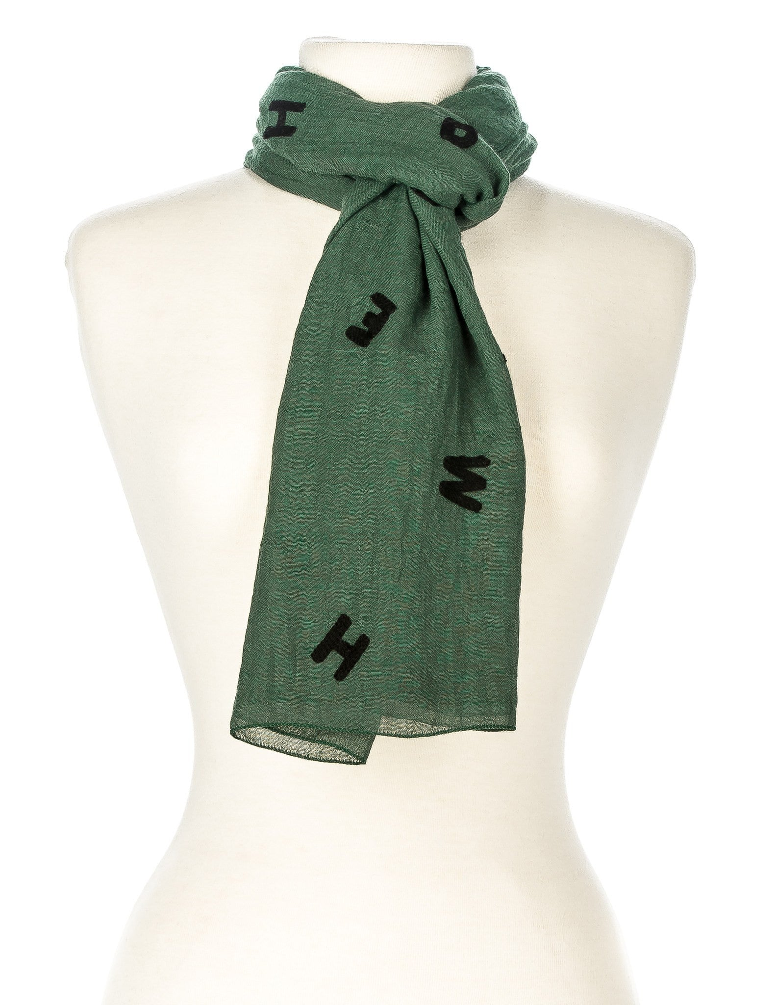 Embroidered Alphabets Spring Scarf