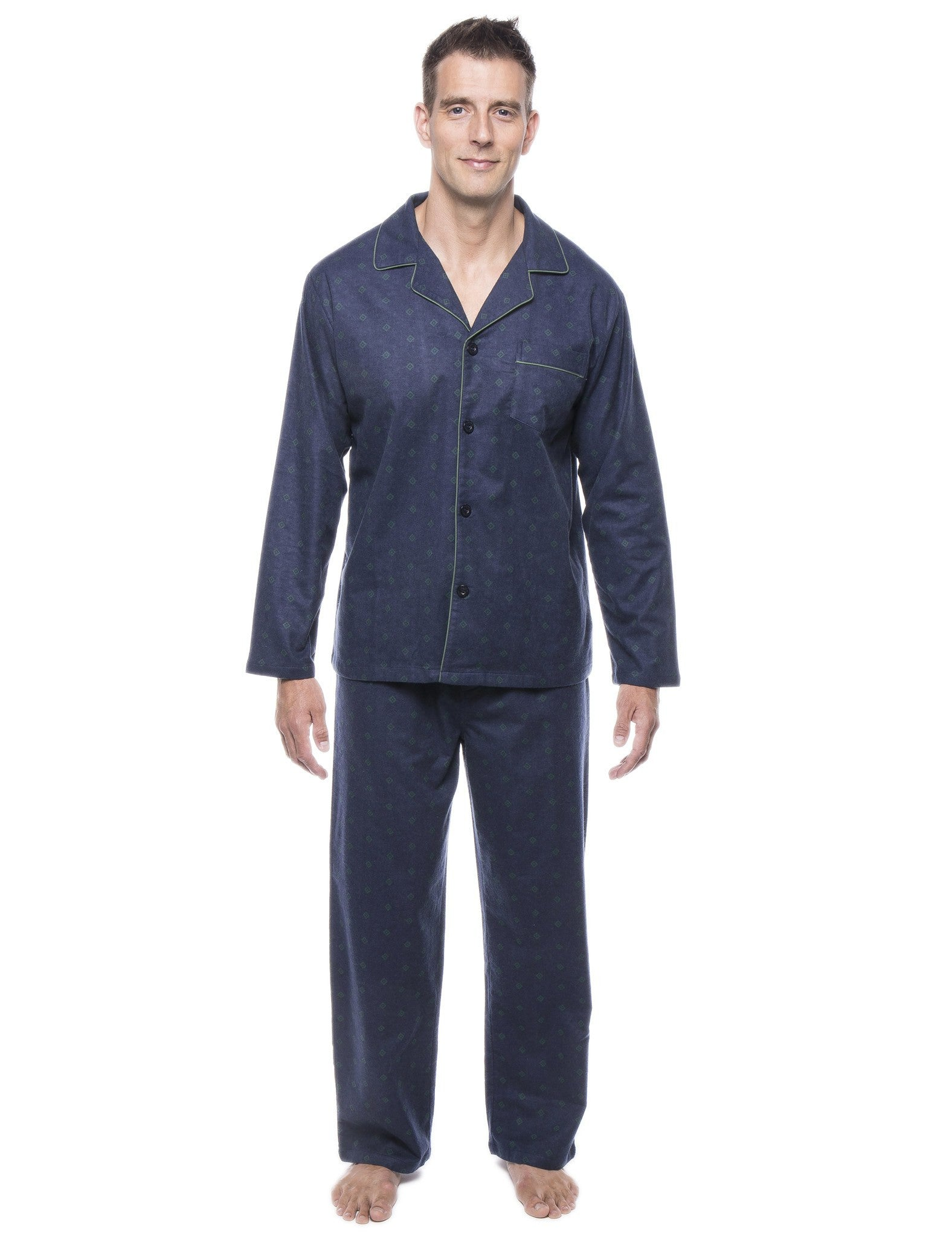 Men's 100% Cotton Flannel Pajama Set