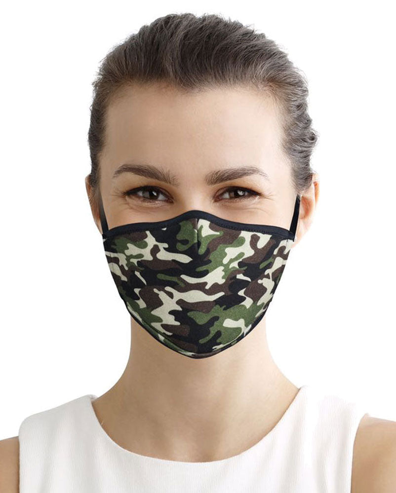 100% Cotton Face Mask Reusable Washable with Filter | Super Soft 3 Layer Jersey Knit Lightweight Fabric | Adjustable Elastic Earloops