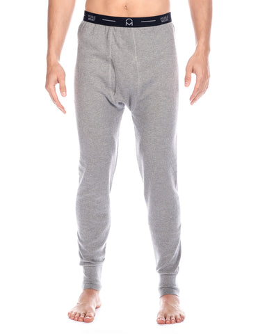 Men's Classic Waffle Knit Thermal Long John Pants