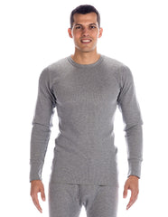 Men's Classic Waffle Knit Thermal Crew Top