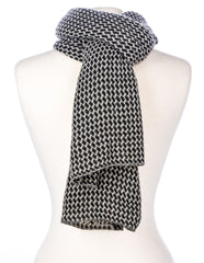 Men's Houndstooth Winter Scarf