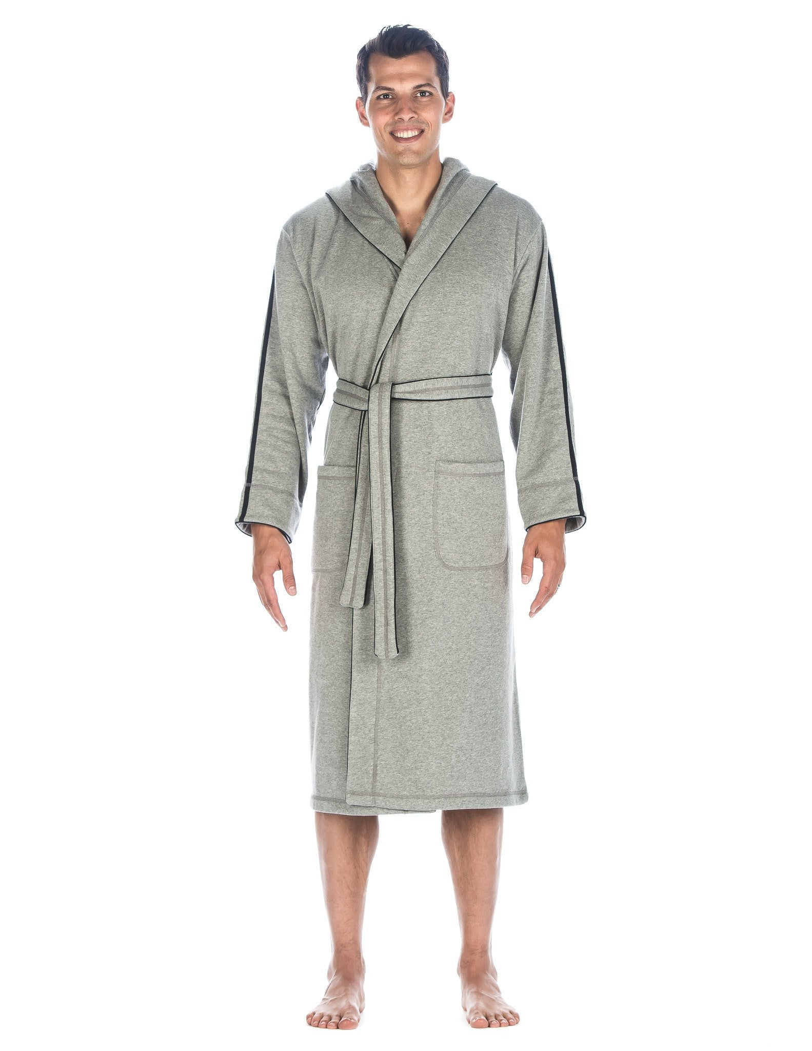 Noble Mount Men\'s Fleece Lined Hooded Robe - Introductory Price